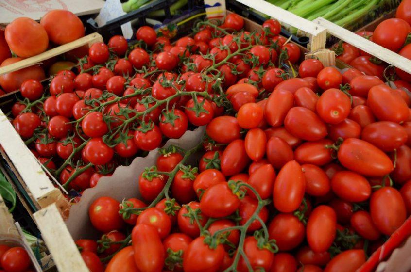 Tomatoes Taormina market