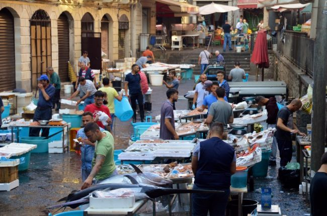 The Catania Fish market