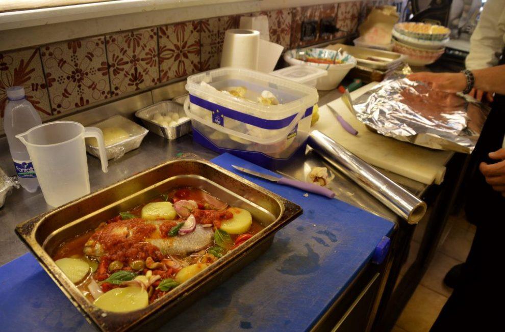 Fish Cooking Class in Taormina