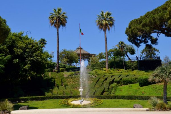 Views of Giardino Bellini in central Catania