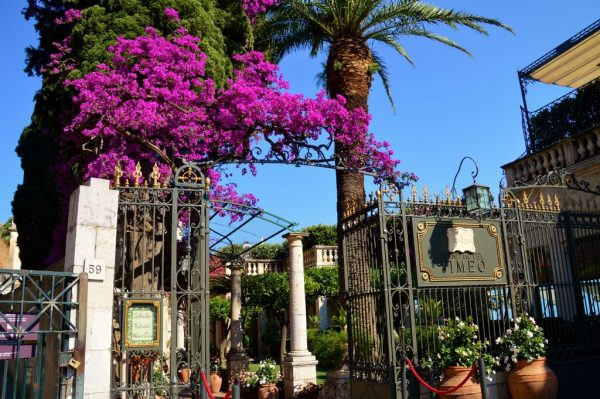 Entrance to the Grand Hotel Timeo, Taormina