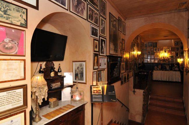 Interior of Caruso Restaurant in Sorrento