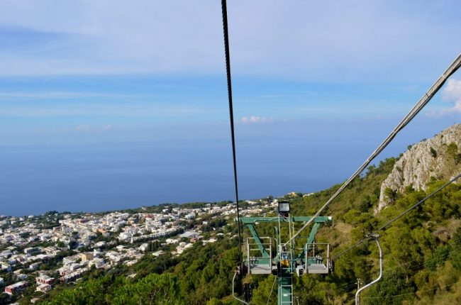 One thing to do on Amalfi Coast is take the funicular on Anacapri