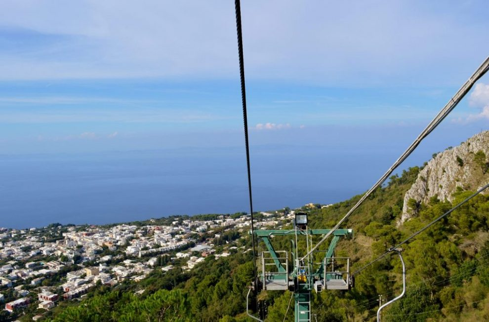 One thing to do on Amalfi Coast is take the funicular on Anacapri