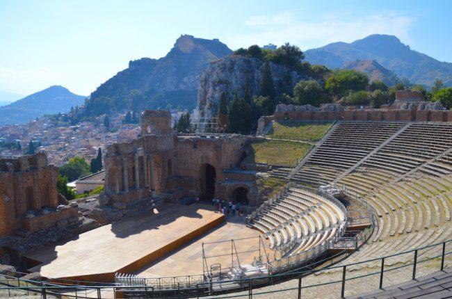 Amfitheatre in Taormina Sicily