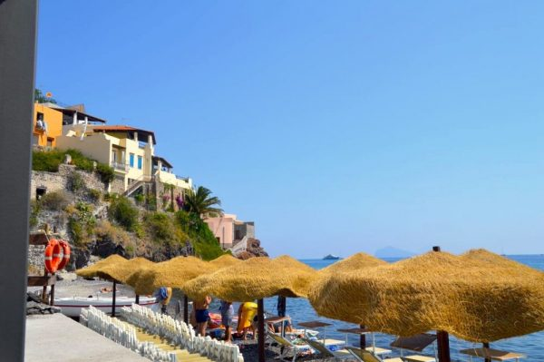 Beach of Canetto on Lipari Island Aeolians Sicily
