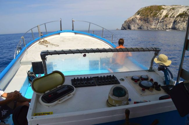 boat tour around the aeolian island of Lipari