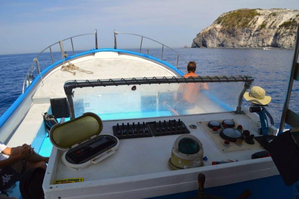 boat tour around the Italian aeolian island of Lipari