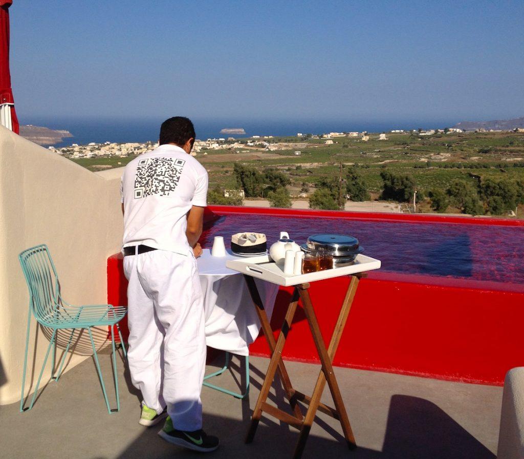 Breakfast at the Art Hotel Santorini