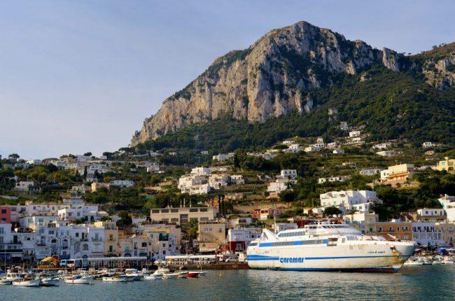 What to do in Amalfi Coast - take the Caremar boat to Capri Island
