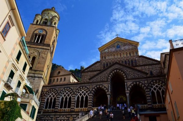 View of the Duomo in Amalfi, Italy