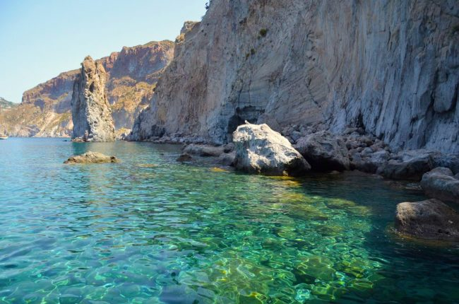 exploring the Eolian Islands from Lipari by boat