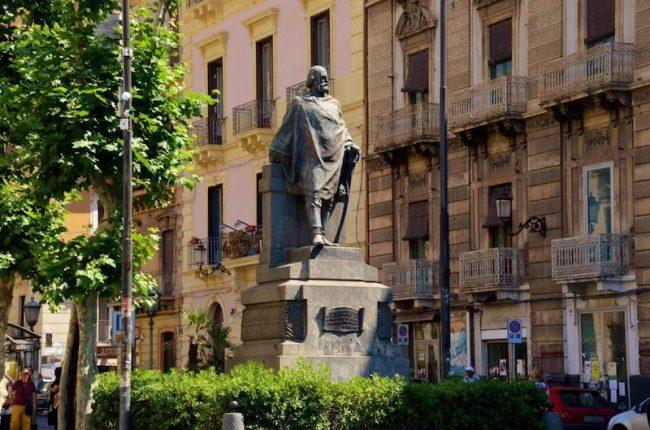 Garibaldi statue in Catania