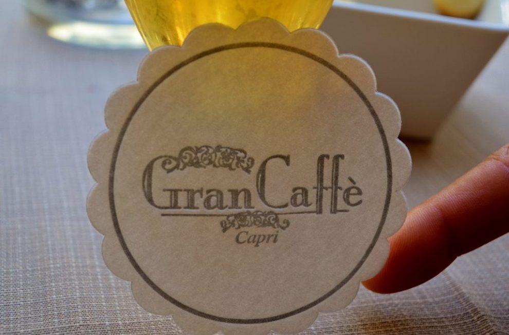 Things to do on Capri. Enjoy a drink at Gran Caffe on Capri Island on Amalfi Coast