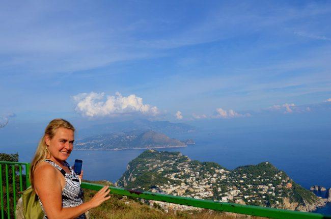 views of Anacapri, Italy