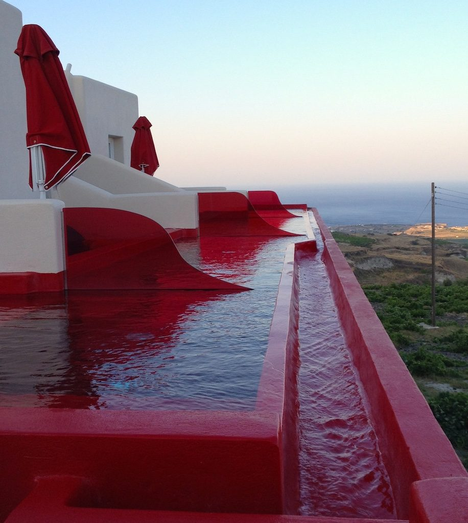 Plunge pool at the Art Hotel Santorini