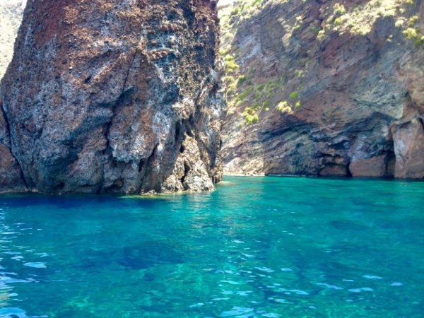 Blue Grotto area on Lipari Aeolian islands of Italy
