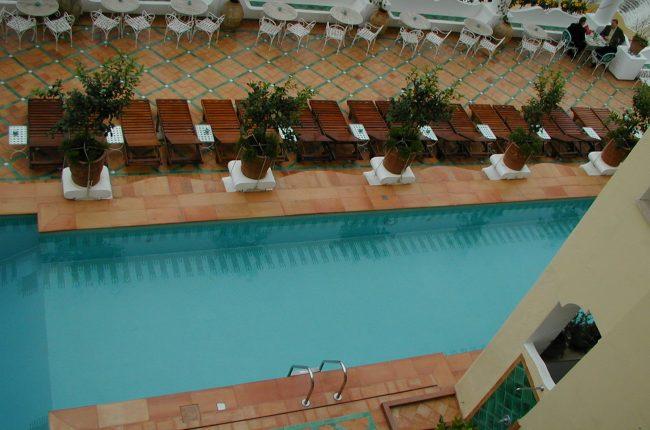 Stunning pool at Le Sirenuse Hotel in Positano, Italy