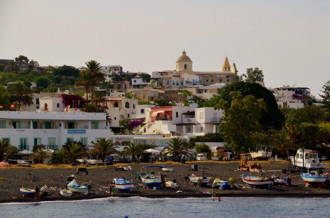 Arrival on Stromboli Island - Aeolian island Sicily