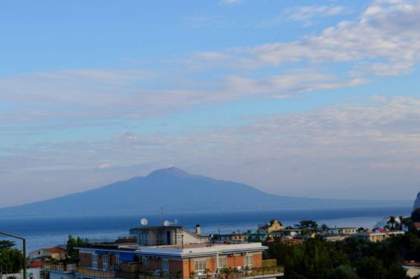 Mt Vesuvius view from the rooftop of i Teresa Hotel Sorrento