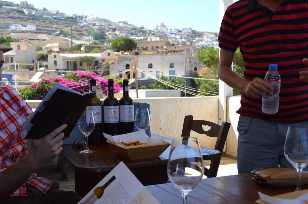 Wine tasting tour Santorini