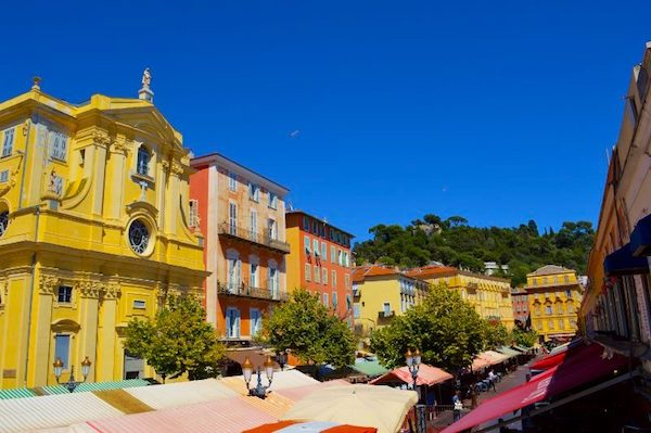 Cours Saleya, market area in Nice