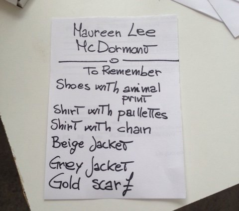 As a film extra in a big production, you'll be given a list of what to wear