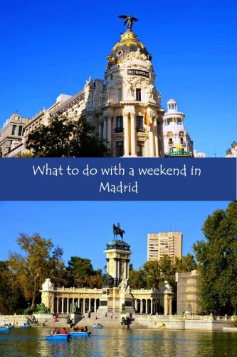 What to do with a weekend in Madrid Pinterest Graphic