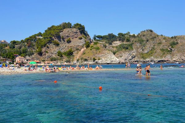 swimmers by Isola Bella Taormina