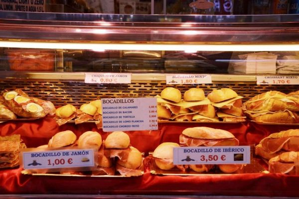 Bocadillos at the San Miguel Mercado