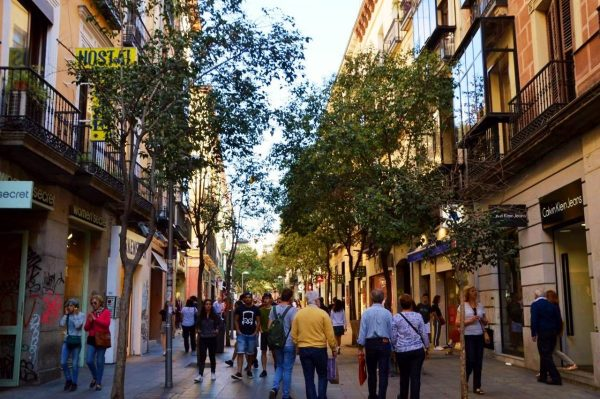 One of Madrid's shopping streets Calle Fuencarral