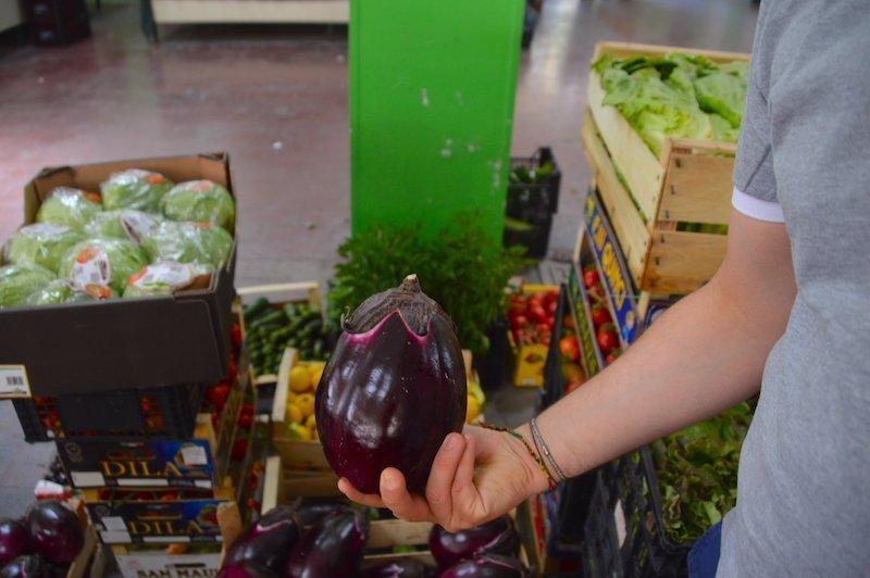 Eggplant in Taormina market