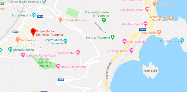 Osteria Santa Domenica Taormina Sicily
