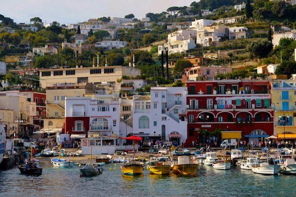 Harbor of Capri Italy
