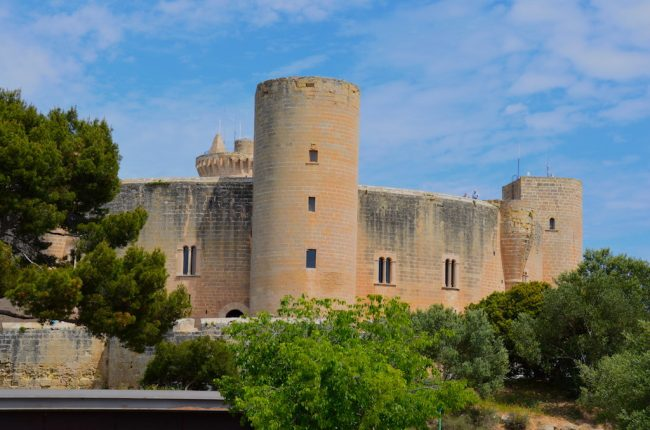 Castell de Bellver from the hop on-hop off tour Majorca