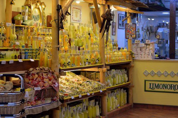 Limonoro Limoncello shop in Sorrento