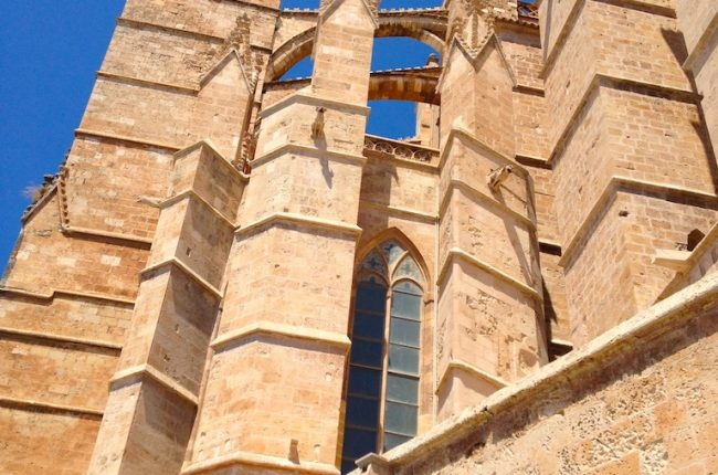 Unique architecture of the Mallorca Cathedral