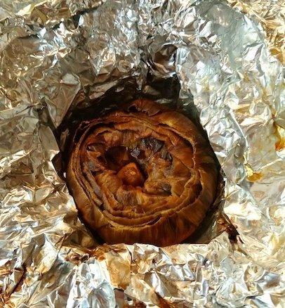 Finished Baked Mediterranean Artichoke