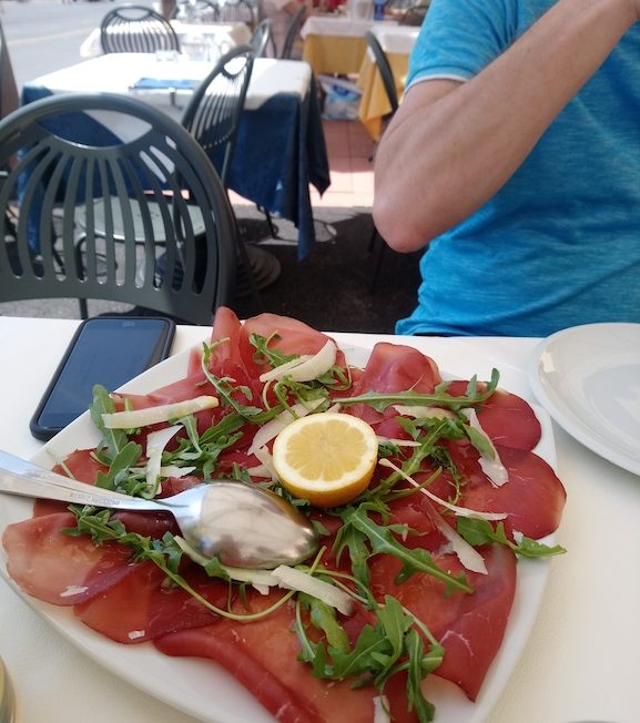 Bresaola is a typical dried beef appetiser