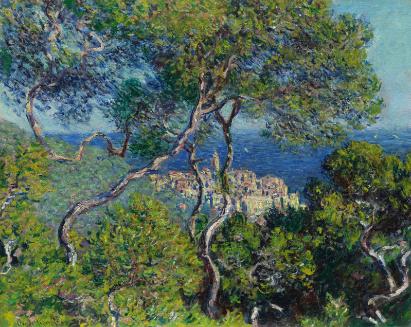 Claude Monet lived in Bordighera and painted lovely scenes of the village