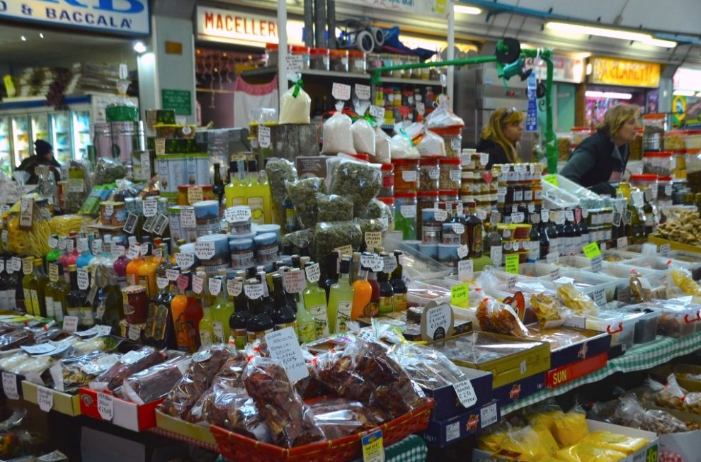 Sanremo's covered market is full of local specialties.