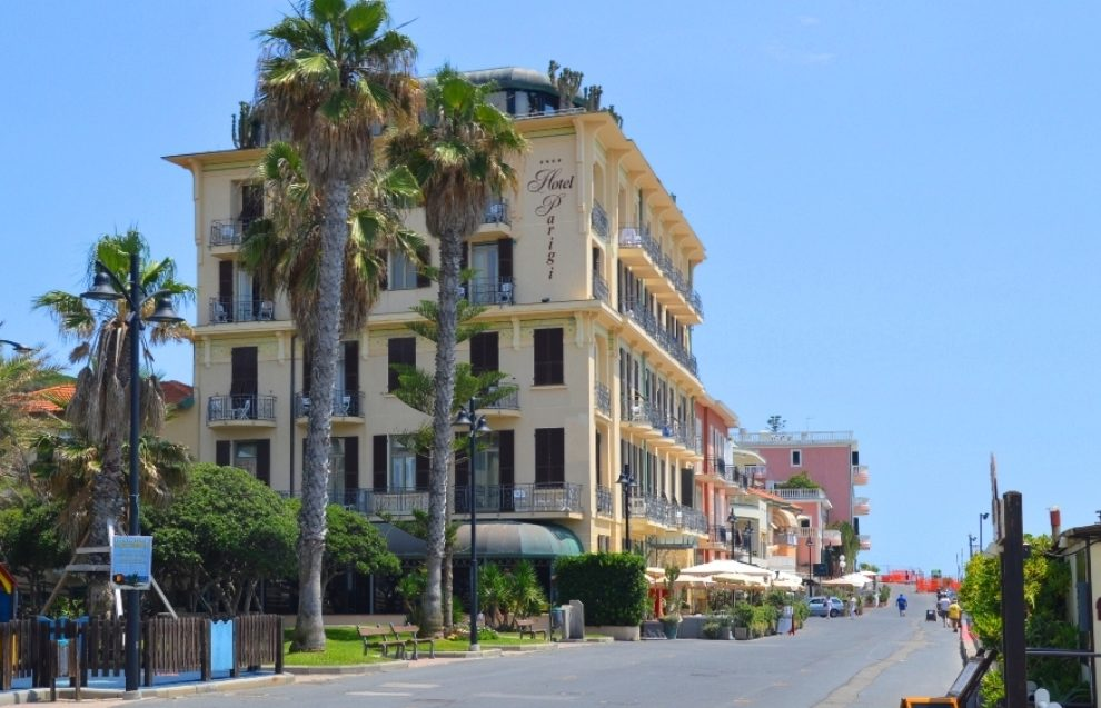 Bordighera's Promenade Argentina named after Eva Peron