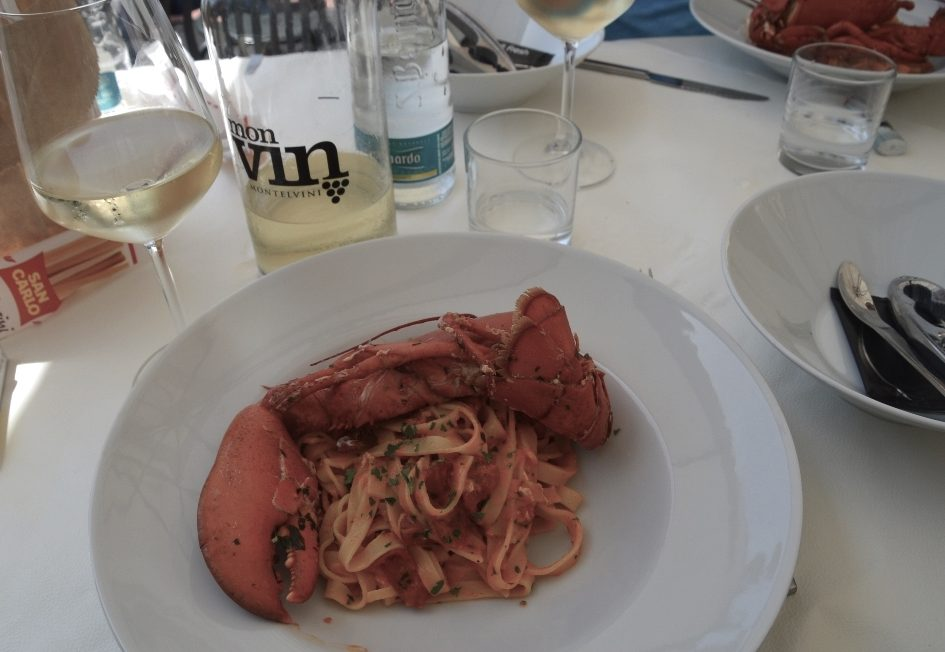 Lobster at Damare Ristorante Imperia
