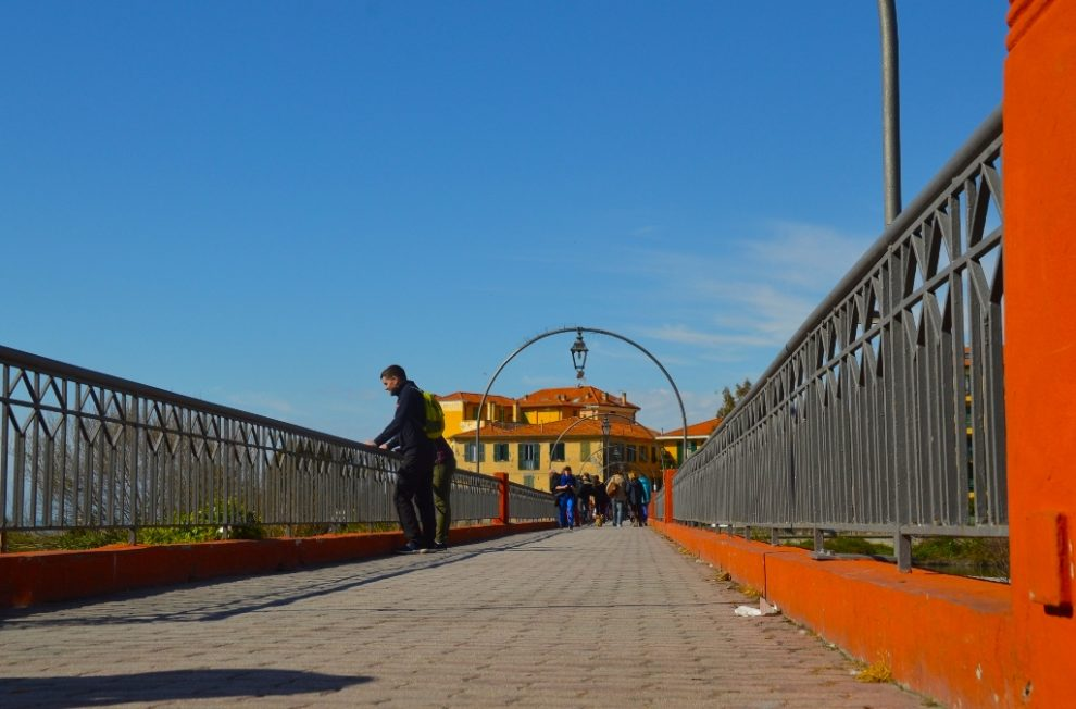 Day trip from Nice to Italy - Ventimiglia bridge from new town toward Old Town