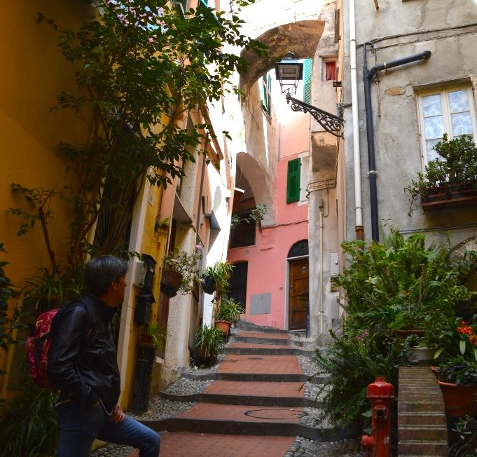 Sanremo has lovely quaint street that are typically Italian