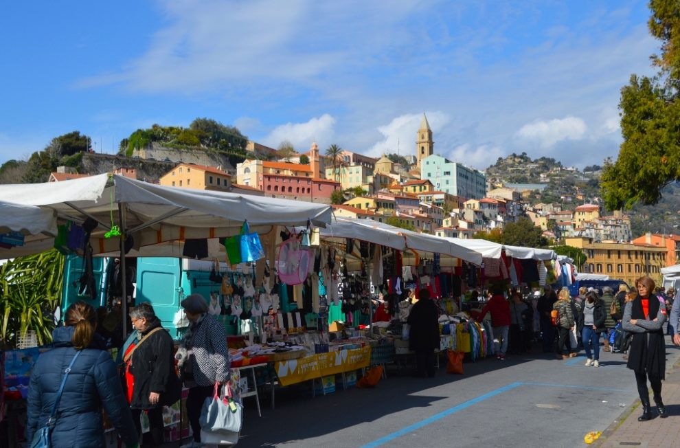 Ventimiglia Outdoor Friday Market Stands