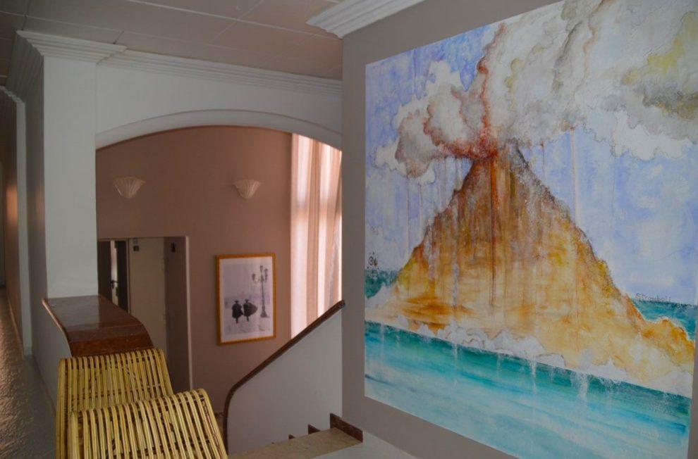 Hotel Kalura Cefalu Sicily Etna Mural