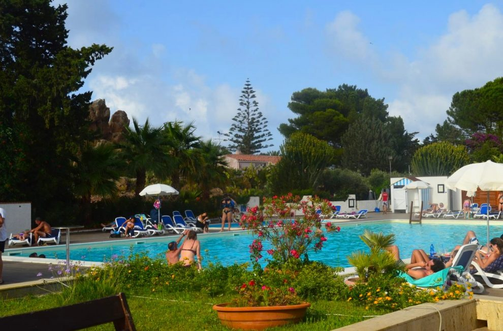 The outdoor pool at Hotel Kalura Cefalu