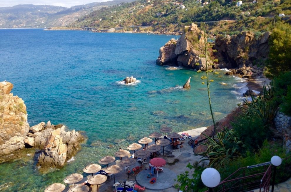 Beautiful beach area and crystal waters off hotel kalura - the best beachfront hotel in Cefalu