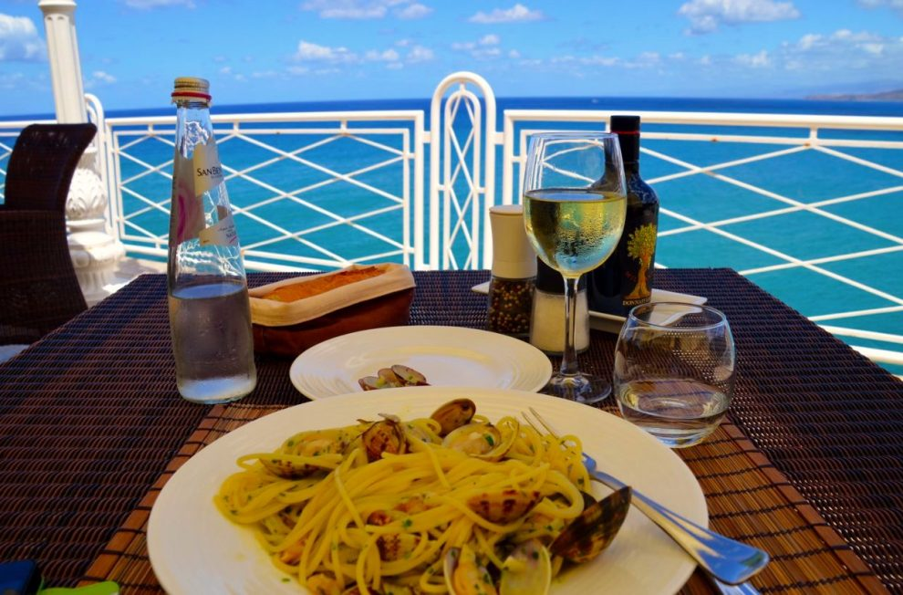 The restaurant at Hotel Kalura serves local Sicilian specialties - one of the best restaurants in Cefalu
